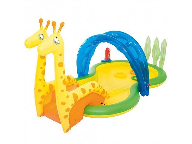 купить бу Детский надувной игровой центр бассейн Bestway 53060 Зоопарк с брызгалкой (bint_53060) в Киеве