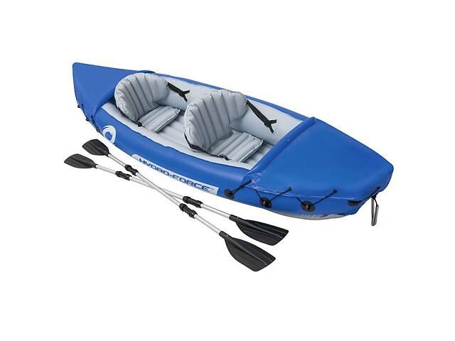 купить бу Двухместная надувная байдарка-каяк с веслами Bestway 65077 Lite-Rapid X2 Kayak (цвет синий) (размер 321*88 см) в Львові
