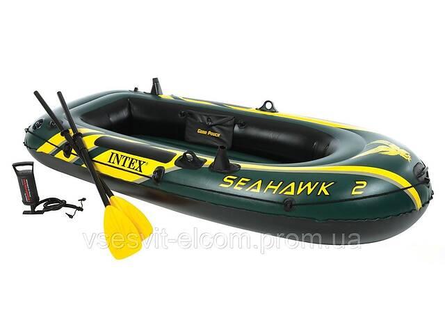 продам Двухместная надувная лодка Intex 68347 Seahawk 2 Set с веслами и насосом (236*114*41 см) бу в Днепре (Днепропетровск)
