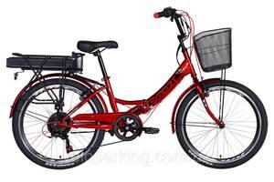 """Электровелосипед 24"""" Formula SMART 500Вт 48В редуктор. дисплей, САП, 12.5Ач с крепл. к багажн., 2021"""