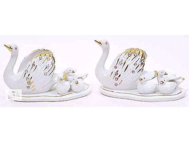 Фарфорова статуетка Лебеді 15 см фарфор зі стразами (psg_BD-204-242)- объявление о продаже  в Києві