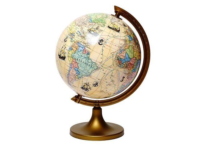 Глобус с маршрутами землепроходцев с описанием Glowala 250 мм (рус.) 540087- объявление о продаже  в Одессе