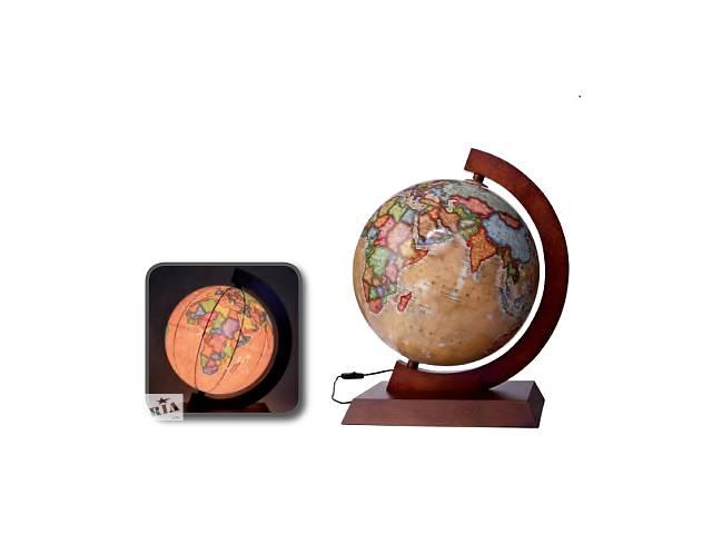 продам Глобус с подсветкой настольный на деревянной подставке 320 мм ретро (рус.) BST 540141 бу в Одессе