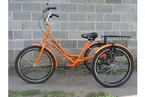 """""""Городской с корзиной 24"""" Трехколесный велосипед для взрослых"""
