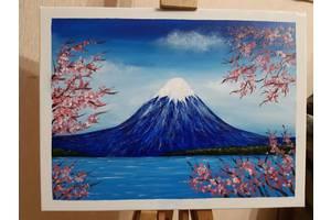 """Картина акрилом """"Цветущая сакура"""""""