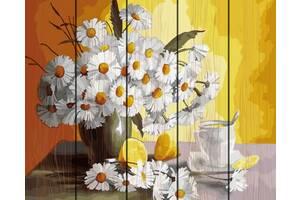 "Картина по номерам на дереве. Rainbow Art ""Чай с лимоном и ромашки"" GXT29442-RA"