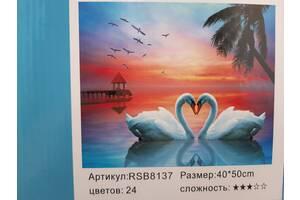 Картины по номерам (лебеди)