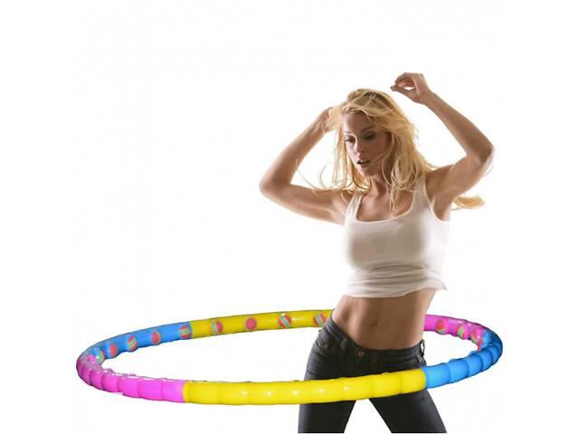 купить бу Хулахуп обруч массажный Hula Hoop Profi MS-0088 с мягкими шариками диаметр 99 см в Львове