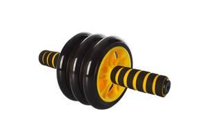 Колесо для м'язів преса Kronos Ms 0873 Yellow в комплекті з килимком (bks_02432)