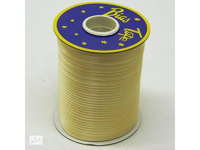 купить бу Косая бейка Super 3008 атласная 1.5 см х 100 м Золотистая (Bios-3008) в Киеве