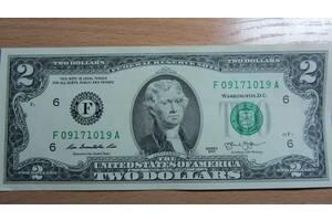 Купюра коллекционная 2 доллара США на Подарок! Сумы!