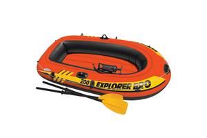 Лодка надувная двухместная Intex 58357 Explorer 200 Pro, до 120 кг Код товара: 58357