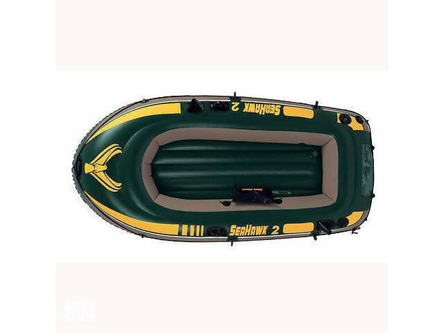 продам Лодка надувная двухместная Intex 68346 Seahawk 2 236х114х41 см Зеленая (68346_int) бу в Києві