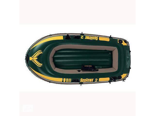 Лодка надувная Intex 68347 Seahawk на 2 человека Зеленый   (68347_int)