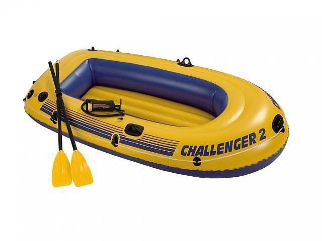 Лодка надувная Intex 68366 Challenger на 2 человека  Желтый   (68366_int)