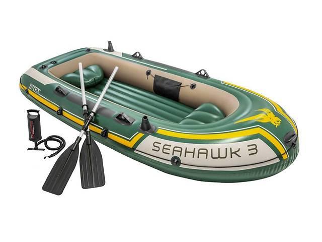 Лодка надувная трехместная Intex 68380 Seahawk 3 Set с веслами и с насосом 295х137х43 см- объявление о продаже  в Львові