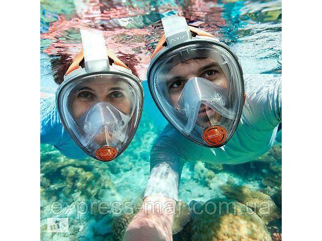 Маска для снорклинга, подводного плавания ныряния 1639