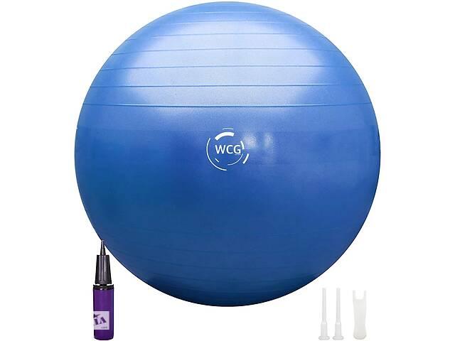 Мяч для фитнеса (фитбол) WCG SPORT 65 см Anti-Burst 300кг гимнастический  + насос