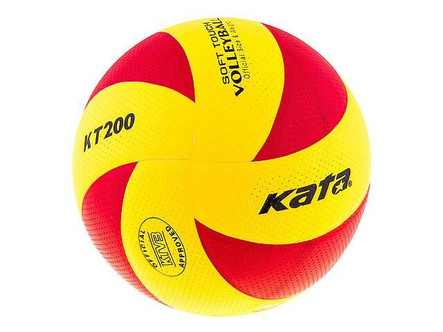 продам Мяч волейбольный Kata 200 PU красно-желтый SKL11-282511 бу в Одессе