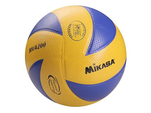 бу Мяч волейбольный Mikasa MVA200 Pvc желто-синий SKL11-282519 в Одессе