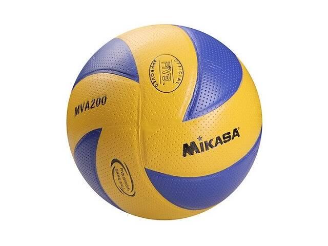 бу Мяч волейбольный Mikasa MVA200 Pvc желто-синий SKL11-282519 в Киеве