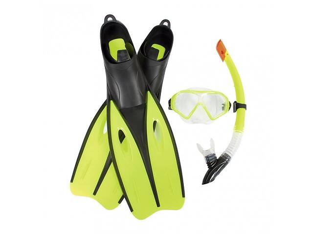 продам Набір для плавання 3в1 Bestway трубка, маска, ласти-US (6.5-8) для дітей від 12 років, зелений бу в Києві