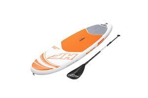 Надувная доска для плавания серфинга с веслом SUP-борд BESTWAY 65302