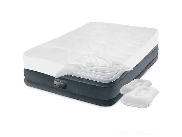 купить бу Надувная кровать Двухспальная Intex 67770-3, 152 х 203 х 32, встроенный электронасос, подушки, наматрасник (hub_7x1ah5) в Киеве