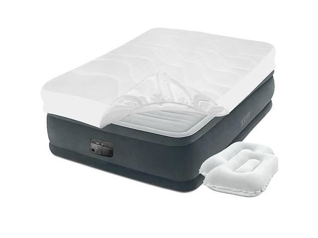 купить бу Надувная кровать Intex 64414-3, 152 х 203 х 46 см встроенный электронасос, наматрасник, подушки. Двухспальная в Одессе