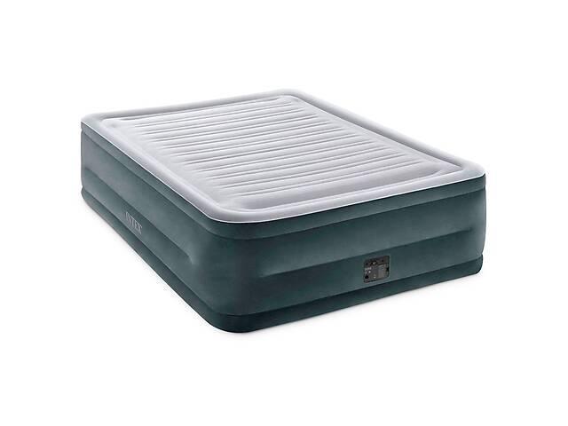 купить бу Надувная кровать Intex 64418-3, 152 х 203 х 56 см, встроенный электронасос, наматрасник, подушки. Двухспальная в Киеве