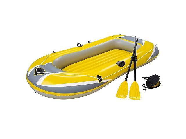 продам Надувная лодка Hydro-Force Raft Set Bestway 61083 228х121 см с вёслами и насосом (bint_61083) бу в Києві