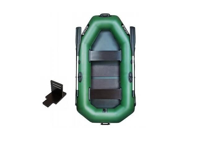 Надувная лодка Ладья ЛТ-220ДСТ двухместная гребная с веслами и сиденьями 2.2 м навесной транец слань-коврик (lad_ЛТ-2...