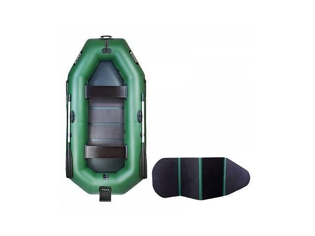 Надувная лодка Ладья ЛТ-270ВТ двухместная гребная с веслами и сиденьями 2.7 м навесной транец слань-книжка (lad_ЛТ-27...