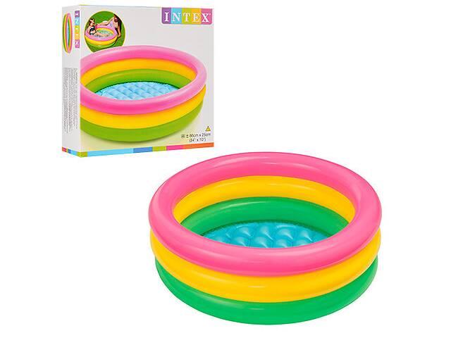 """Яркий надувной бассейн для малышей Intex 58924 """"Радуга"""" (86*25 см)- объявление о продаже  в Львове"""