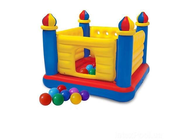 купить бу Надувной батут Intex 48259-1 Замок 175 х 175 х 135 см с шариками 10 шт (hub_vilt1z) в Одессе