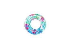 Надувной детский круг для купания BestWay для детей от 3 лет 91 см., синяя-структура