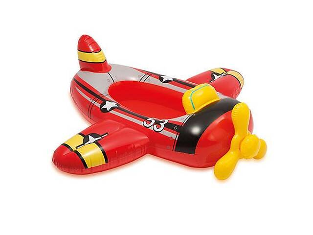 Надувной плотик детский для плавания Intex Самолет 100х97 см, разноцветный- объявление о продаже  в Києві
