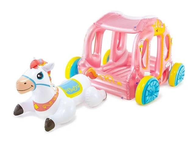 продам Надувной игровой центр - карета Intex 56514 с надувной лошадкой (145*135*104 см) Код товара: 56514 бу в Одессе