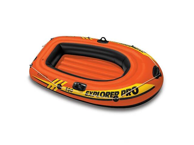 продам Одноместная надувная лодка Intex 58355 Explorer Pro 100 до 80 кг 94 х 29 х 160 см Оранжевая (gr_008643) бу в Києві