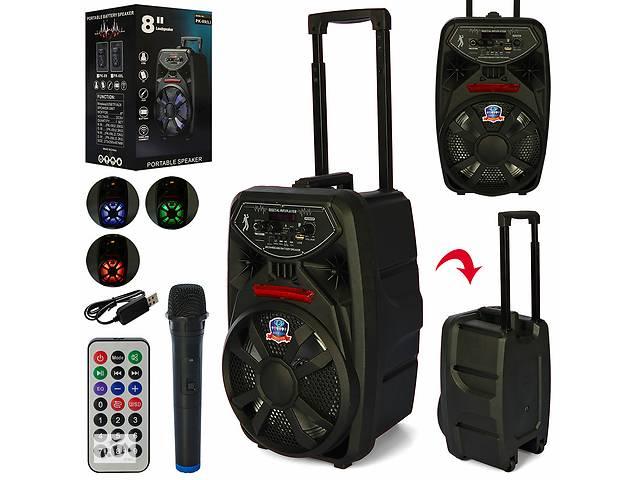 продам Портативная колонка-чемодан на колесах с ручкой, с Bluetooth, микрофоном, пультом, на аккумуляторе PK-09L бу в Одессе