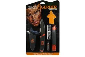 Promo Ліхтар+Нож+пончо Gerber Bear Grylls блістер Grbr31-002493