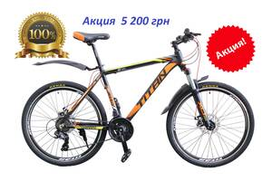 """РОЗПРОДАЖ! Алюмінієвий гірський велосипед TITAN SOLAR 26"""" 19"""" Shimano"""