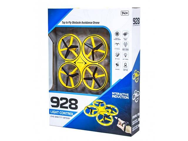 Ручной квадрокоптер с перчаткой управления датчики защиты от столкновений Drone 928 желтый- объявление о продаже  в Одесі