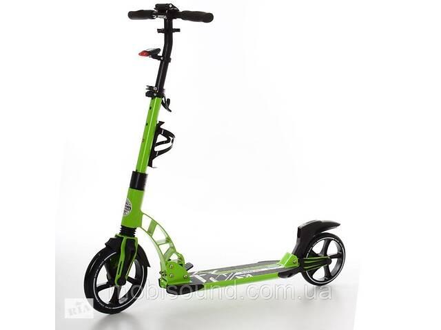 купить бу Самокат iTrike SR 2-014-2-GR взрослый, алюминиевый, колеса ПУ 230/200 мм, свет, зеленый в Львове