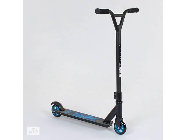 Самокат трюковый Best Scooter 81533 Черно-Синий