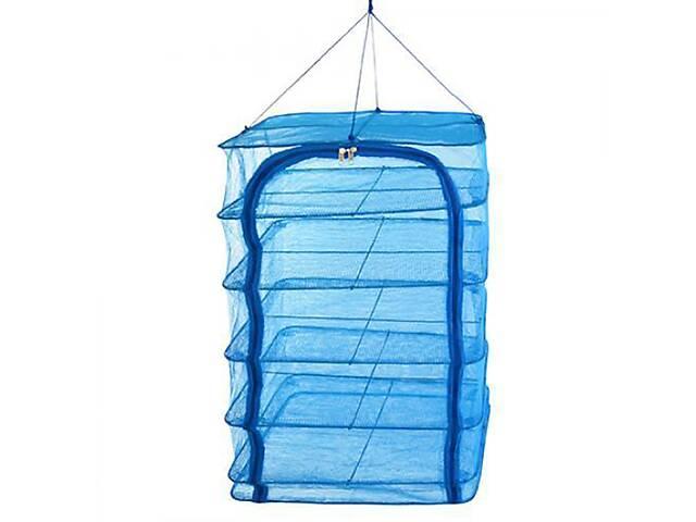 продам Сітка для сушіння риби складна Stenson U SF23638 5 ярусів 40х50х75 см Блакитна (gr_009610) бу в Києві
