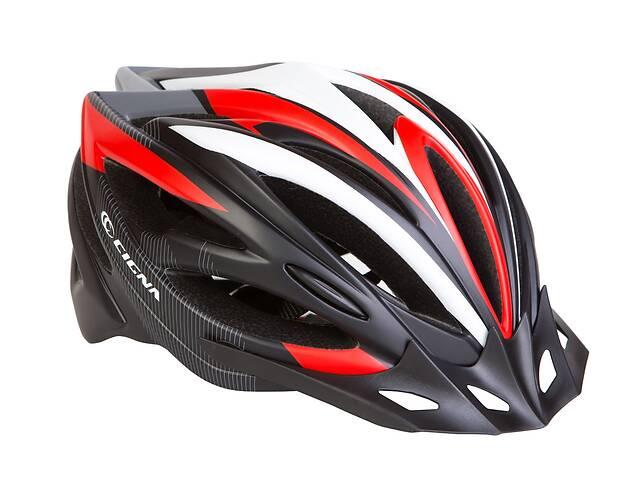 Шлем велосипедный с козырьком CIGNA WT-068 черно-бело-красный (черно-бело-красный)- объявление о продаже  в Львове
