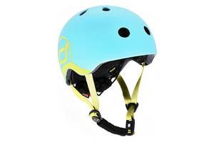 Шлем защитный детский Scoot and Ride с фонариком, голубика (51-55 см (S-M))