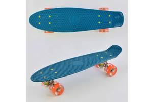Скейт Пенни борд Best Board, бирюзовый, с подсветкой, доска 55 см, колёса PU диаметр 6 см SKL11-186283