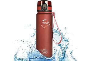 Спортивна Пляшка-Фляга для води WCG SPORT Tritan Grey, Red 1000 мол шейкер фітнес